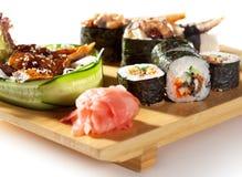 Japanese Cuisine - Sushi Set Royalty Free Stock Image