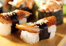 Japanese Cuisine - Sushi Set Royalty Free Stock Photos