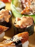 Japanese Cuisine - Sushi Set Stock Photo