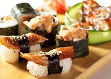 Japanese Cuisine - Sushi Set Stock Photography