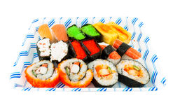 Japanese Cuisine sushi set Stock Images