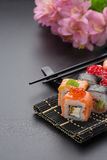 Japanese cuisine. Sushi. Stock Images