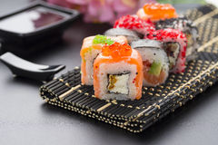 Japanese cuisine. Sushi. Royalty Free Stock Images