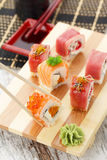 Japanese cuisine. Sushi. Royalty Free Stock Photography