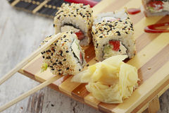 Japanese cuisine. Sushi. Stock Photos