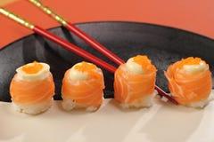 Japanese  cuisine sushi set with salmon Royalty Free Stock Photography