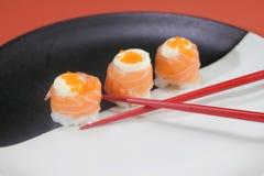 Japanese  cuisine sushi set with salmon Stock Image