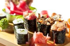 Japanese Cuisine - Sushi Set Royalty Free Stock Photography