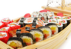Japanese Cuisine - Sushi Ship Stock Photo