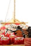 Japanese Cuisine - Sushi Ship Royalty Free Stock Images