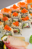 Japanese cuisine. Sushi. Stock Photography