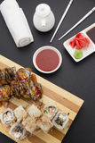 Japanese cuisine. Sushi. Royalty Free Stock Photos
