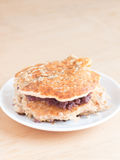 Japanese cuisine, sweet red benas paste pancake sandwich Royalty Free Stock Photo