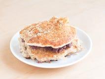 Japanese cuisine, sweet red benas paste pancake sandwich Stock Image