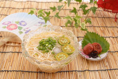 Japanese cuisine. On the table Royalty Free Stock Photo