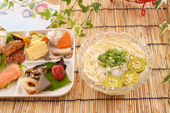 Japanese cuisine. On the table stock images