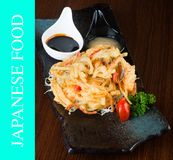 japanese cuisine. tempura. Deep fried mix vegetable on the background stock photos