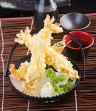 Japanese cuisine. tempura prawn on the background Stock Photography