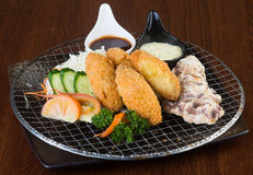 Japanese cuisine. tempura seafood on the background Royalty Free Stock Photo