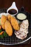 Japanese cuisine. tempura seafood on the background Stock Photography