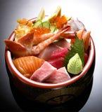 Japanese Cuisine - Tempura Shrimps (Deep Fried Shrimps). Beef Sukiyaki , Japanese Food chabu chabu Royalty Free Stock Photography