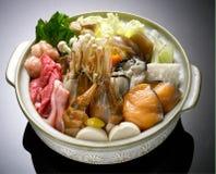 Japanese Cuisine - Tempura Shrimps (Deep Fried Shrimps). Beef Sukiyaki , Japanese Food chabu chabu Stock Image
