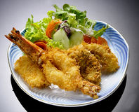 Japanese Cuisine - Tempura Shrimps (Deep Fried Shrimps) Stock Image
