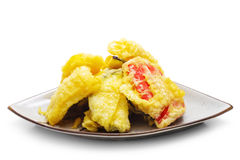 Japanese Cuisine - Tempura Vegetables Royalty Free Stock Photo