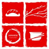 Japanese cuisine theme  Illustration Royalty Free Stock Photography