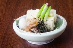 japanese cuisine. tofu on the background Royalty Free Stock Photography