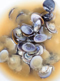 Japanese cuisine, Top view of shijimi clam miso soup Royalty Free Stock Image