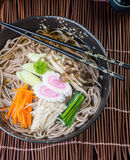 Japanese cuisine. udon on the background Stock Photography