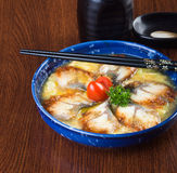 Japanese cuisine. unagi or eel on the background Royalty Free Stock Photo