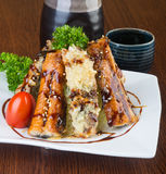 Japanese cuisine. unagi or eel on the background Royalty Free Stock Image