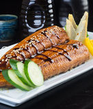 Japanese cuisine. unagi or eel on the background Royalty Free Stock Photography