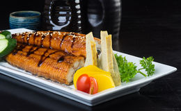 Japanese cuisine. unagi or eel on the background Royalty Free Stock Images