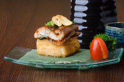 Japanese cuisine. unagi or eel on the background Stock Images