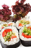 Japanese Cuisine - Vegetarian Sushi Royalty Free Stock Photography