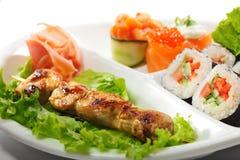 Japanese Cuisine - Yakitori Stock Photography