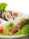 Japanese Cuisine - Yakitori Royalty Free Stock Photography