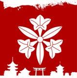 Japanese cultural ornaments. National ornaments of Japan. Decorative Japanese cultural ornaments. National ornaments of Japan Stock Images
