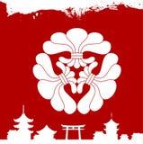 Japanese cultural ornaments. National ornaments of Japan. Decorative Japanese cultural ornaments. National ornaments of Japan Royalty Free Stock Photos