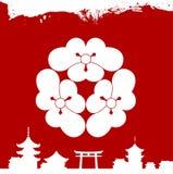 Japanese cultural ornaments. National ornaments of Japan. Decorative Japanese cultural ornaments. National ornaments of Japan Stock Image