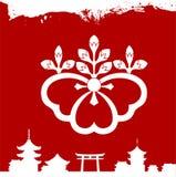 Japanese cultural ornaments. National ornaments of Japan. Decorative Japanese cultural ornaments. National ornaments of Japan Stock Photos