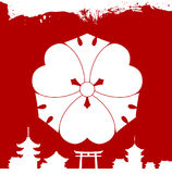 Japanese cultural ornaments. National ornaments of Japan Stock Photo