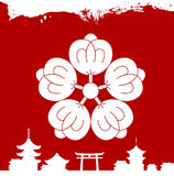 Japanese cultural ornaments. National ornaments of Japan Stock Images