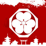 Japanese cultural ornaments. National ornaments of Japan Royalty Free Stock Photography