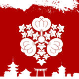 Japanese cultural ornaments. National ornaments of Japan Stock Photos