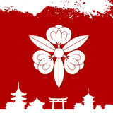 Japanese cultural ornaments. National ornaments of Japan Stock Photography