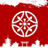 Japanese cultural ornaments. National ornaments of Japan Royalty Free Stock Photo